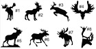 Moose DECAL vinyl Sticker . Wall Decor vehicle nature animal