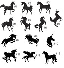 Unicorn . pony .  DECAL vinyl Sticker . Wall Decor vehicle w