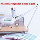 Pro 5x Diopter Magnifying Floor Stand Lamp Magnifier Glass Gooseneck Light