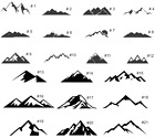 Mountains . Vinyl Decal Sticker. Outdoor Hiking .  Buy 1 Get 1 Free !!**********