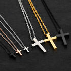 Small Children Boy Girl Tiny Simple Stainless Steel Cross Pendant Necklace Gift image