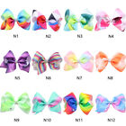 12cm Big Colorful Girl Bowknot Hairpins with Diamond Jojo Bow Hair Clip Pins-NEW