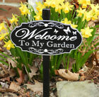 WELCOME TO MY GARDEN Sign, Permanently Laser Engraved -- FREE SHIPPING