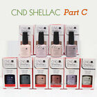 CND SHELLAC UV Gel Nail Polish Base Top Coat 7.3ml 0.25oz Pick ANY Color PART C