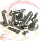 6mm 8mm 10mm 12mm Socket Button Head Screws - A2 Stainless Steel Allen ISO7380