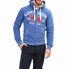 GEOGRAPHICAL NORWAY FOCCUPE FELPA HOODIE UOMO BLU