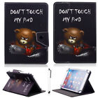 "For 7''-7.9"" Inch Tablet Cool Bear Universal Stand PU Leather Protect Case Cover"