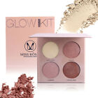 Bronzer and Highlighter Makeup Face Contour Palette Golden Shimmer Powder WOW