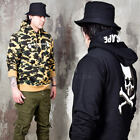 NewStylish Mens Casual Fashion Tee Top Skull Back Lettering Hoodie