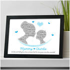 PERSONALISED Mum Mummy and Son Mothers Day Gifts To The World You Are A Mum