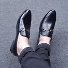 Mens Horsebit Flats Mules Fashion Slip-on Casual Formal Leather Shoes Fashion