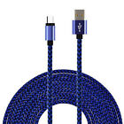 3/6/10ft Braided Aluminum Micro USB Data &Sync Charger Cable For Android Phones