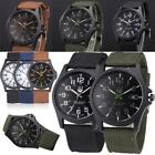 Outdoor Boys Mens Date Military Sport Watch Canvas Band Quartz Wrist Watch Cheap image