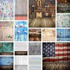 US 5x7ft Vintage Retro Wooden Wall Photography Backdrops Vinyl Photo Props 3x5ft