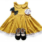 0-4Y Toddler Kids Baby Girls Dress Princess Lace Party Dresses Casual Sundress
