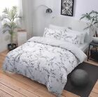 Paisley Marble Grey Pieridae Luxury Duvet Cover Quilt Reversible Bedding Set UK