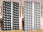 Chevron Insulated 100 Thermal Blackout Grommet Window Curtain All Sizes SALE