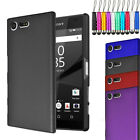 For Sony Xperia XZ1 Compact - Armour Hard Shell Case Back Cover + Film + Stylus