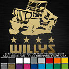 Jeep Willys with Stars Jeep Old School truck decal sticker