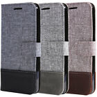 For LG V20 Magnetic Canvas Leather Card Slot Wallet Flip Stand Phone Case Cover