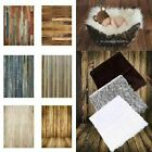 3x5ft Newborn Baby Photography Photo Props Blanket Vintage Wooden Wall Backdrops