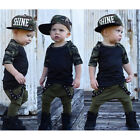 Toddler Kid Baby Boy Cotton Clothes Camo Tops T Shirt Tee +Long Pants Outfit Set