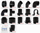 Polypipe 40mm Solvent Weld Waste Fittings in Black