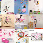 Girl Butterflies Wall Stickers for Bedroom Living Room Decor