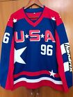 usa all movies - EJ Mighty Ducks D2 Movie Team USA Hockey Jersey #96 Charlie Conway Stitched All