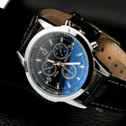 Men's  Leather Stainless Steel Quartz Analog Army Vintage Formal Wrist Watches