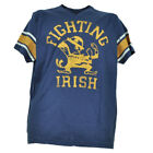 NCAA Notre Dame Fighting Irish Distressed Logos Mens V Neck Tshirt Tee Striped