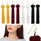 Fashion Women Bohemian Fringe Boho Long Tassel Hook Drop Dangle Earrings Eardrop