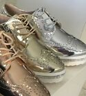 lace brogue ladies   diamante shoes
