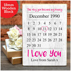 Day You Became My Nanny Nan Nana PERSONALISED Mothers Day Gift Wooden Blocks