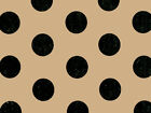 """Black POLKA DOTS on Kraft Brown Tissue Paper for Gift Wrapping 20""""x30"""" Sheets"""