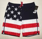 NWT Op AMERICAN FLAG FOURTH OF JULY SWIM TRUNK BOARD SHORTS size 38