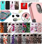 for ZTE Grand Blade X Max 2 HYBRID Armor Rubber Rugged Case Phone Cover +Hook