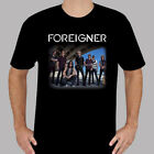 Foreigner Tour Concert 2018 Rock Band Legend Men's Black T-Shirt Size S to 3XL