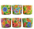 6 pcs. Easter Bread parchment baking paper Molds (cakes panettone paska kulich)
