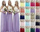 Long Chiffon Lace Evening Formal Party Ball Gown Prom Bridesmaid Dress 6-24 New