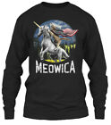 Funny Cat Fourth Of July S- Gifts - Meowica Gildan Long Sleeve Tee T-Shirt