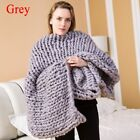 Soft Thick Line Giant Yarn Knitted Blanket Hand Weaving Home Photography Props