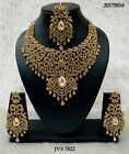 New Indian Bollywood Costume Jewellery Necklace Set Gold & Silver Party Wear
