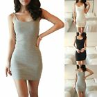 Women Casual Short Mini Dress Cocktail Party Evening Bodycon Sleeveless Robes