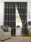 Natural Luxury Chenille Circle Ready Made Fully Lined Tape Top Curtains