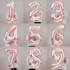 "Внешний вид - 40"" LIGHT ROSE GOLD Number Foil Helium Balloon for Birthday Party Decoration ILO"