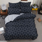 Geometric Line Duvet Doona Quilt Cover Set Single Queen King Size Bed Pillowcase