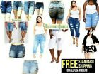 Torrid 1826 Womens Plus Size Bermuda Shorts Capri Denim Jeans Ripped Distressed