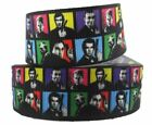 "James Bond 007 Characters Grid 1"" Wide Repeat Ribbon Sold in Yard Lots $1.49 USD on eBay"