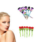 6Pcs Beauty and The Beast Enchanted Rose Style Cosmetic Make Up Soft Brushes